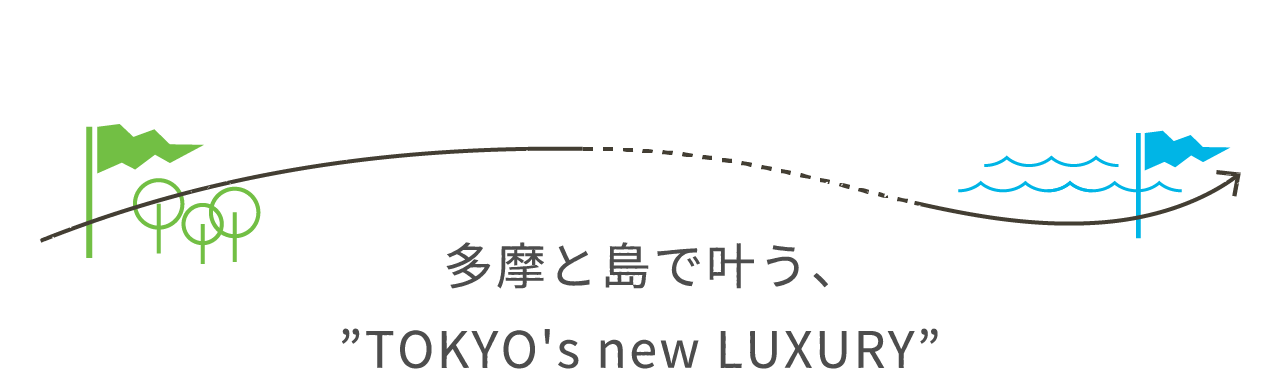 "Model Course 多摩と島で叶う、""TOKYO's new LUXURY"""